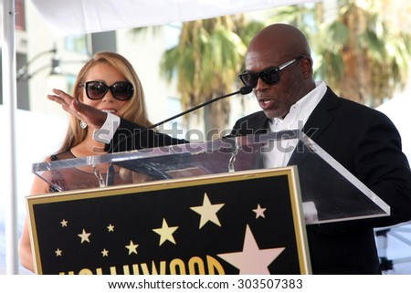 , LOS ANGELES - AUG 5:  Mariah Carey, LA Reid at the Mariah Carey Hollywood Walk of Fame Ceremony at the W Hollywood on August 5, 2015 in Los Angeles, CA - stock photo