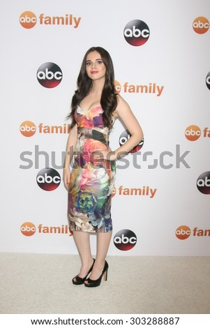 , LOS ANGELES - AUG 4:  Vanessa Marano at the ABC TCA Summer Press Tour 2015 Party at the Beverly Hilton Hotel on August 4, 2015 in Beverly Hills, CA - stock photo