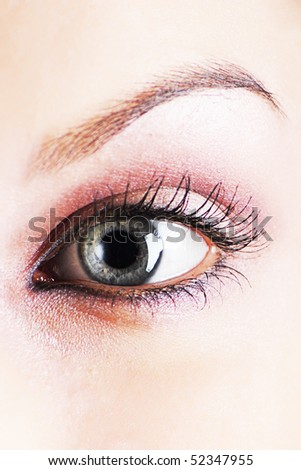lose-up of eye - stock photo