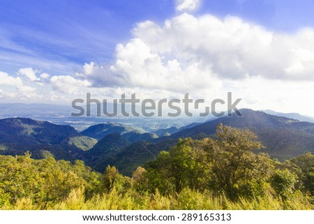 Majestic mountains  - stock photo