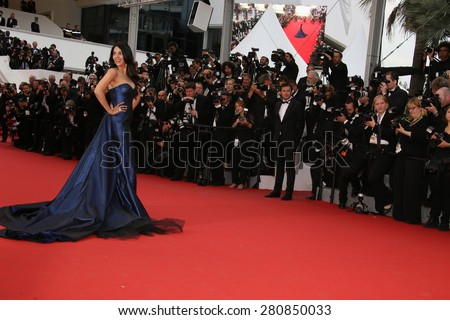Mallika Sherawat attends the 'Macbeth' Premiere during the 68th annual Cannes Film Festival on May 23, 2015 in Cannes, France. - stock photo