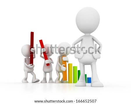 Manager and Team - stock photo