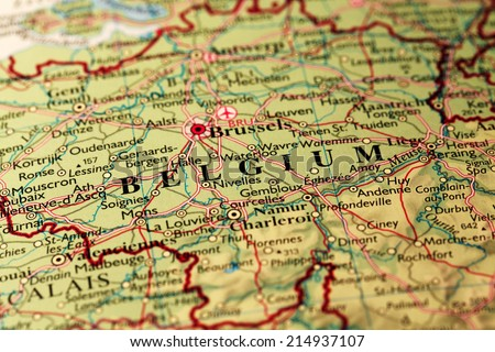 Map Belgium - stock photo