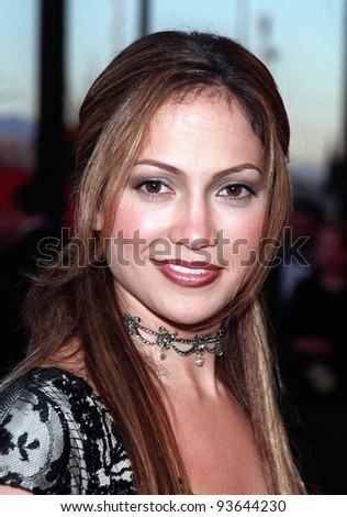 23MAR98:  Actress JENNIFER LOPEZ at the 70th Academy Awards. - stock photo