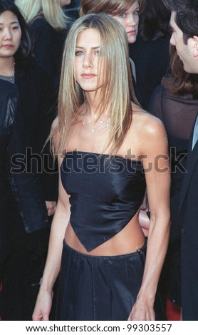 "07MAR99: ""Friends"" star JENNIFER ANISTON at the Screen Actors Guild Awards.  Paul Smith / Featureflash - stock photo"