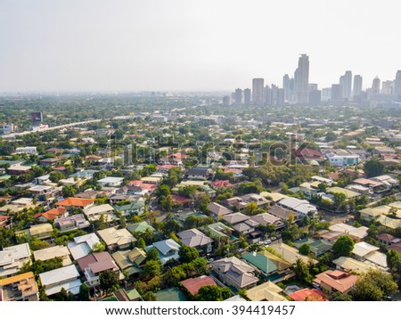20 March 2016 :Top view of makati city centre of manila in the philippines - stock photo