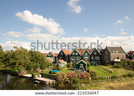 marken dutch island near amsterdam holland - stock photo
