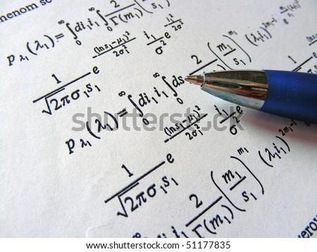 Mathematics equation - stock photo