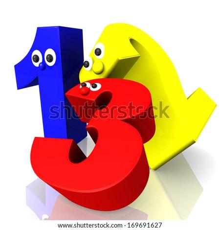 123 maths school - education - stock photo