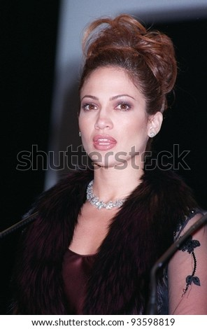 24MAY98:  Actress JENNIFER LOPEZ at the Cannes Film Festival awards ceremony. - stock photo