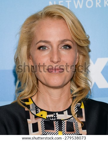 11 May 2015 - New York, New York- Gillian Anderson. FOX 2015 Upfront Party at Wollman Rink.  - stock photo