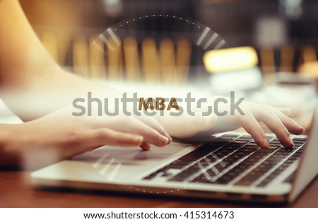 """ Mba "" Internet Data Technology Concept - stock photo"