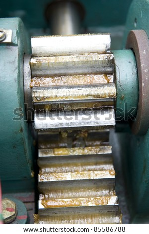 mechanism gear wheel - stock photo