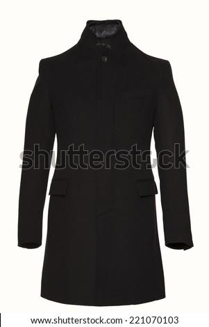 men jacket  item on a white background - stock photo