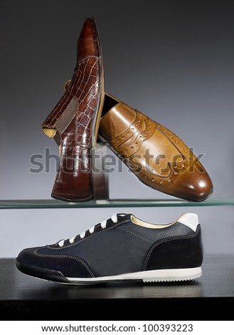 men shoes composition - stock photo