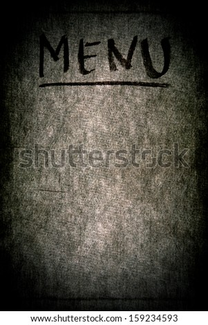 """Menu"" inscription on the paper textured surface - stock photo"