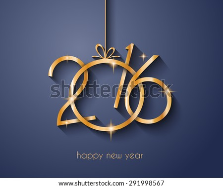2016 Merry Chrstmas and Happy New Year Background for your dinner invitations, festive posters, restaurant menu cover, book cover,promotional depliant, Elegant greetings cards and so on. - stock photo