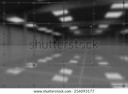 metal plates background - stock photo