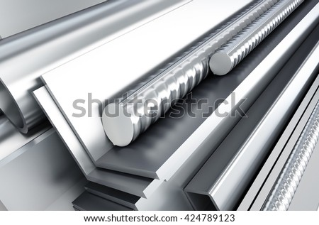metal products. 3d Illustrations background - stock photo