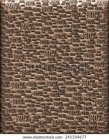 20% metallic brown background - stock photo
