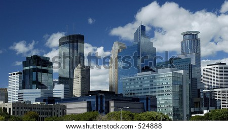 Minneapolis city skyline - stock photo