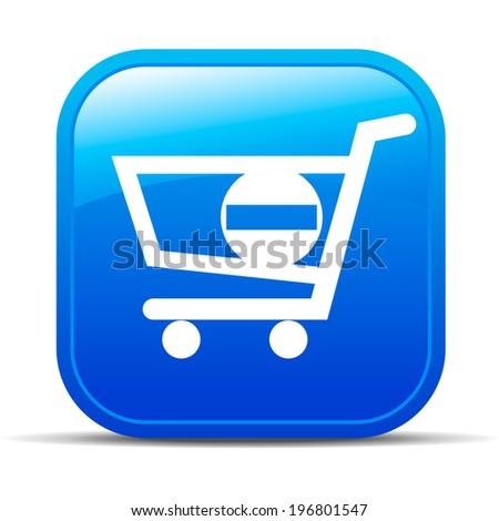 Minus Check Out - Shopping plus Internet button Icon - Raster Version - stock photo