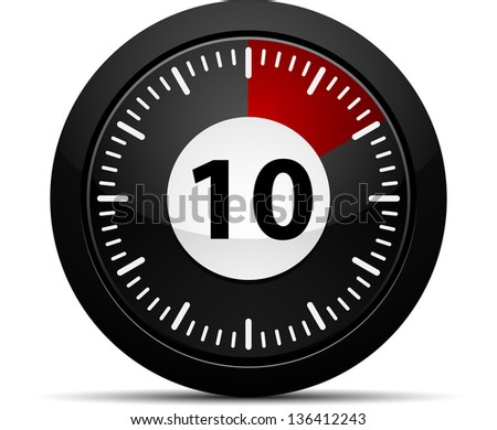 10 Minutes timer - stock photo