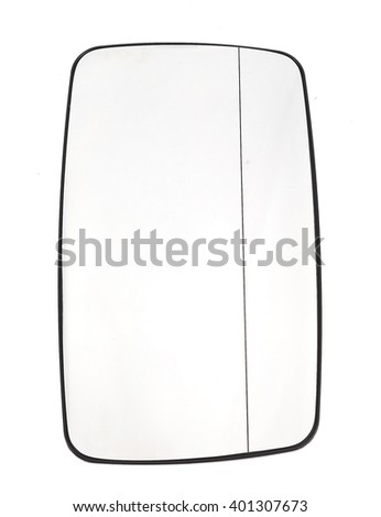 mirror of a car on a white background - stock photo