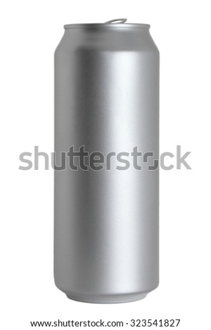 500 ml aluminum can isolated on white background - stock photo
