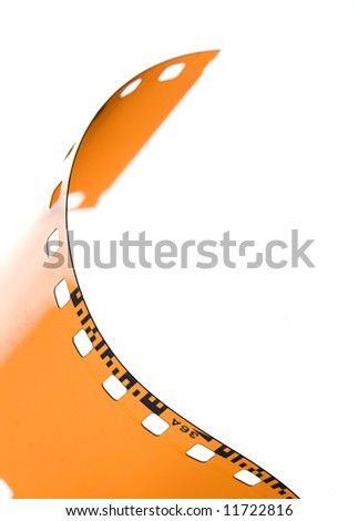 35 mm blank film strip - stock photo