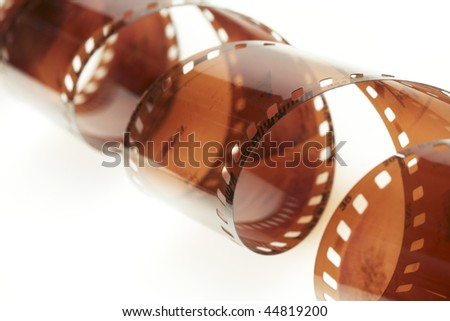 35 mm film isolated over white background - stock photo