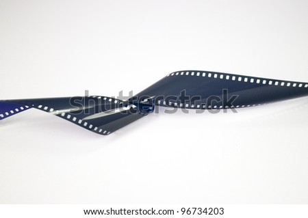 35mm film strip - stock photo