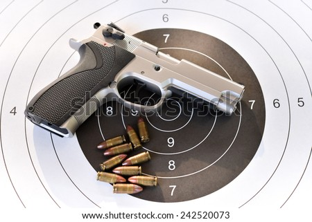 9 mm. pistol  - stock photo