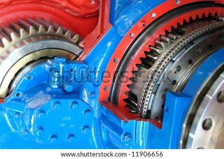 model of ship engine. - stock photo