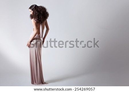 model posing in  the studio - stock photo