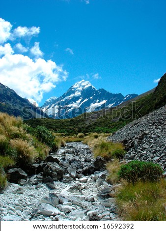 Mt. Cook - stock photo