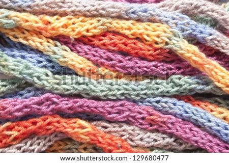 multicolor yarn - stock photo