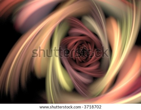 'Multicolored Rose', digitally created background - stock photo