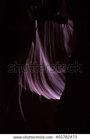 Natural Abstraction from Upper Antelope Slot Canyon in Arizona - stock photo