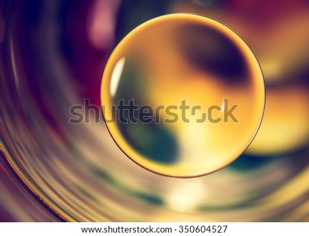 Nature background, abstract water drops macro. - stock photo