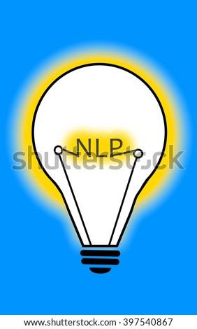 Neuro-Linguistic Programming Light Bulb - stock photo