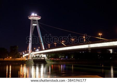New Bridge  in Bratislava. - stock photo