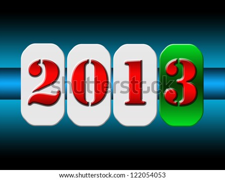 2013 New Year counter. - stock photo