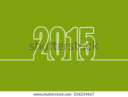 2015 New Year Green - stock photo