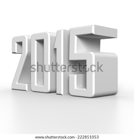 2015 New Year in 3D - stock photo