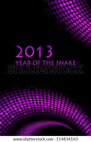 """2013 new year - """"snake"""" background - stock photo"""