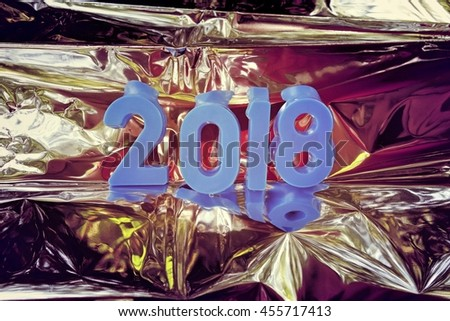 2018 new year. The numbers on the background - stock photo