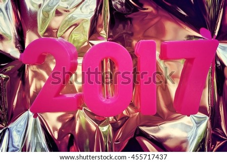 2017 new year. The numbers on the background - stock photo