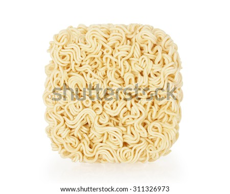 noodles isolated on white background with clipping path. - stock photo