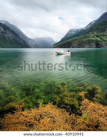 """""""Norwegian fjord"""" - stock photo"""